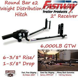 94 00 0600 Fastway Trailer Steel E2 Weight Distribution Hitch With 6 000 Lb Gtw