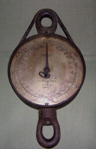 Vintage Brass Round Face Scale By Thomas Morton