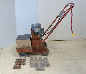 Edco 2ec Electric Dual Head Disk Concrete Floor Grinder Planer 1 5hp 2ec 1 5b