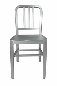 Set Of 2 New Brushed Aluminum Chairs