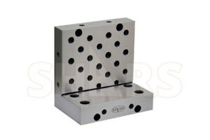 Shars 0 0002 precision Toolmaker 6x6x4x1 1 4 Precision Steel Angle Plate New