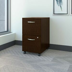 Series C 2 Drawer Mobile File Cabinet In Mocha Cherry