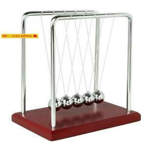 Bojin Newton s Cradle Balance Ball Science Physics Puzzle Desk Fun Gadgets Red
