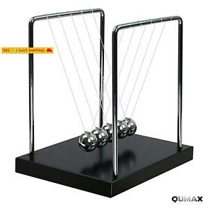 Qumax Newton s Cradle Balance Balls Science Pendulum Desk Toy Physics Gadget Wit