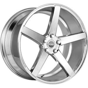 18 Inch 18x8 Strada Perfetto Chrome Wheel Rim 5x112 40