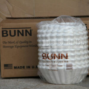 Coffee Filters Commercial Brewers 12 Cup Large Case Carton Bunn Paper White 1000