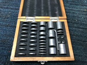 Nice 36 Pc Precision Space Block Set In Wood Box 050 1 000 Machinist Tools