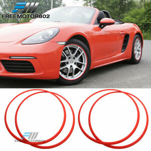 Heavy Duty Wheel Guard Rim Protecting Trim Ring 20inch Red