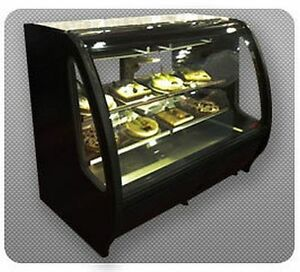 Torrey 40 Prokold Curved Glass Black Deli Bakery Display Case Refrigerated