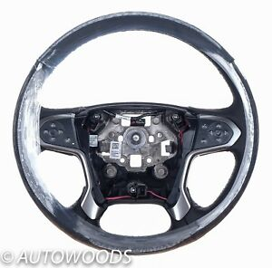 Chevy Gmc Silverado 2015 2016 2018 Heated Leather Steering Wheel Black New