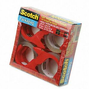 Scotch Packing Tape And Dispenser pack Of 4 Rolls