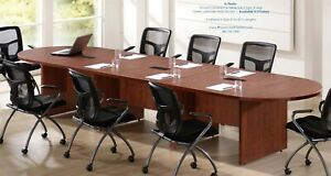 10 Foot Expandable Conference Table With 2 Power Centers And Data Ports 5 Colors