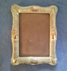 Antique Large 9 X 7 English Sterling Silver Easel Back Photo Picture Frame