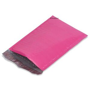 5 Pink Color 10 5x16 Poly Bubble Mailers Envelopes Shipping Bags 25 100 To 1000