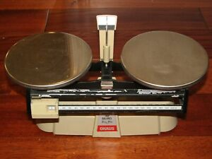 Ohaus Laboratory Scale Double Beam Harvard Trip Balance 2kg 5lb Made In Usa