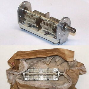 Hammarlund Amateur Ham Radio Cap Silver Plated 2 Section Variable Air Capacitor