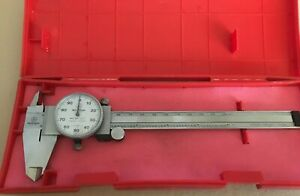 Mitutoyo 6 Inch 505 637 Shock Proof Dial Caliper In Original Box