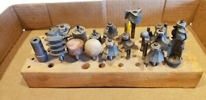 Router Bit Lot Of 23 Includes All Bits Pictured