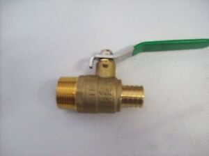 3 4 Mpt Ball Valve X 3 4 Pex Box Of 10