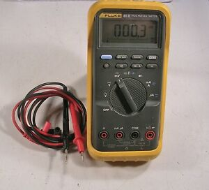 Fluke 85 iii Usa True Rms Multimeter With Leads boot And Tested