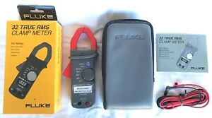 New Fluke 32 True Rms Clamp Meter In Original Packaging With All Contents New