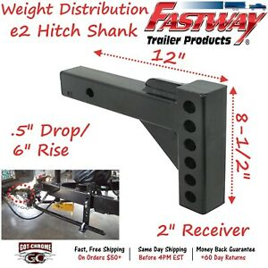 92 02 4100 Fastway Trailer E2 Weight Distribution 12 Hitch Shank With 7 Rise