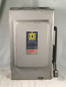 0193 Square D Safety Switch Disconnect 3hp To 7 1 2hp