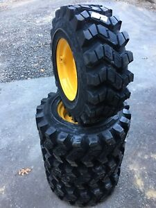 4 Hd Camso Sks753 12 16 5 Skid Steer Tires wheels rim For New Holland 12x16 5