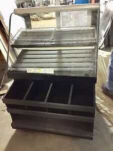 36 Refrigerated Bakery Case Curved Glass Self Serve Display Deli Merchandiser