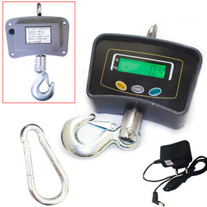 Industrial Electronic Crane Digital Lcd Hook Hanging Weight Measure Scale 500kg
