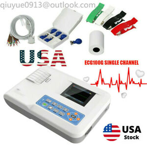 Portable Fda 12 Leads Ecg Ekg Machine Systems Single Channel Contec printer Usa
