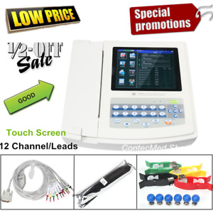 Fda Digital 12 Channel lead Electrocardiograph Ecg ekg Machine interpretation Us