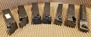 Lot Of 7 Lathe Turning Tools Some Missing Parts