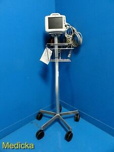 2007 Ge Dash 3000 Patient Monitor W Leads stand spo2 Ecg Nbp T co 17437