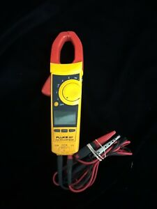 Fluke 337 True Rms Ac Dc Current Amp Clamp Meter Multimeter Gator Grip Clamps