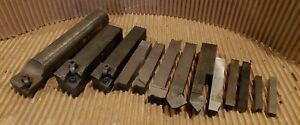 Lot Of 13 Lathe Turning Tools Some Hss Brazed Carbide Indexable