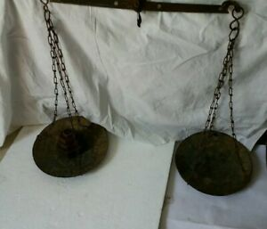 Vintage Hanging Scale With Weight