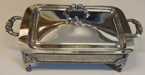 Vintage Silverplated Casserole Or Buffet Server With Lid No Liner 10 X7
