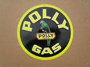 Tin Metal Gasoline Service Station Man Cave Advertising Decor Gas Oil Polly Gas