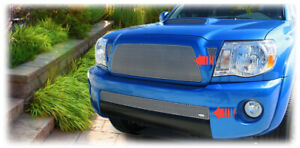Grillcraft Upper lower Grilles For 05 10 Toyota Tacoma Pre X runner Silver