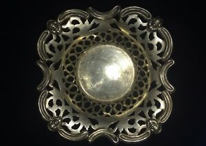 English Nickel Silver Nut Bowl Bon Bon Bowl Candy Dish