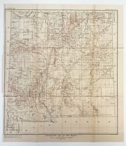 New Mexico Territorial Map Topographic Map Of N M 1909