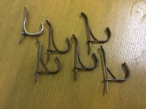 Vintage Lot Of 6 Twisted Wire Screw In Coat Hat Hooks Hardware Farm 4 Lots Avail