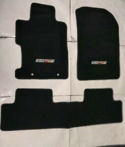 For 06 11 Honda Civic 2 4dr Floor Mat Carpets Black Nylon W Emblem