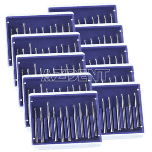 10boxs Carbide Burs Dental Pear shaped High speed Tungsten Steel Burs Fg330