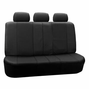Deluxe Leatherette Pair Bench Seat Covers Black Split