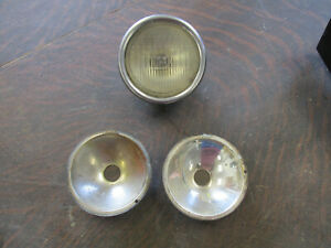 Ford Model A 1930 1931 Original Cowl Light Body Complete Two Extra Reflectors