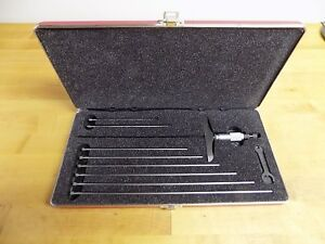 Starrett 445bz 9rl 4 Base 0 9 Depth Micrometer Case