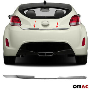 Chrome Rear Door Trunk Lid Protect Cover Trim Steel For Hyundai Veloster 2011 17