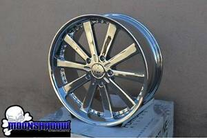 22 Fortune Alloys Power Trip All Chrome Wheels Rims 22x9 Toyota Tundra Sequoia